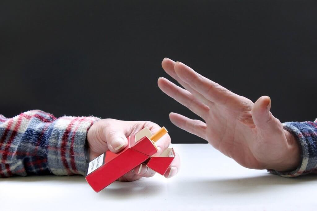 タバコの誘いを断る